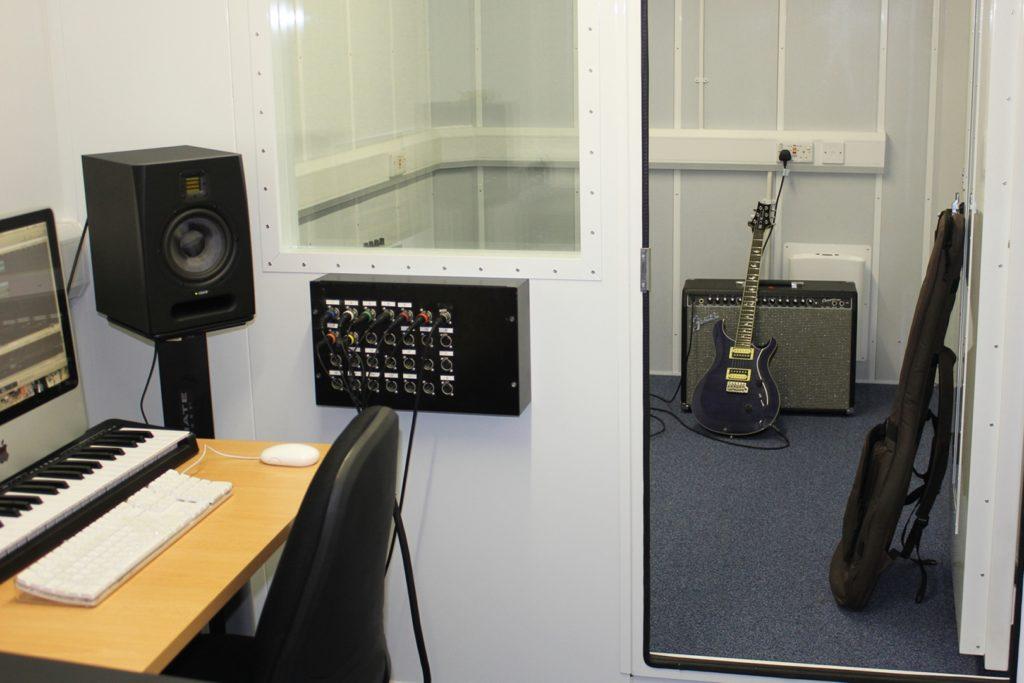Soundproofed recording studio