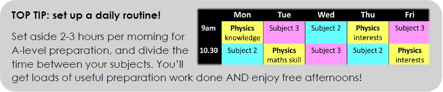 Top tip: setting up a daily studying routine