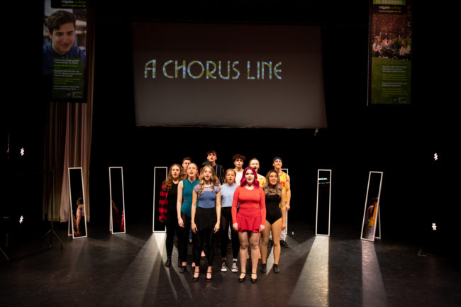 Students performing A Chorus Line