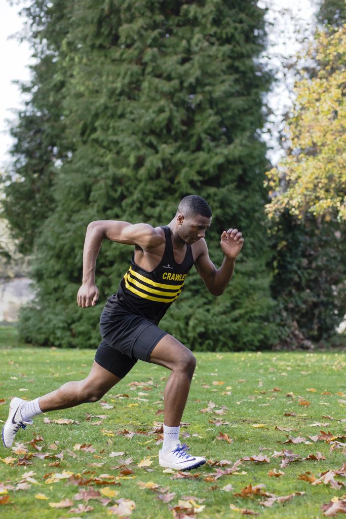 Alessio Anah: 100m, 200m, 110m Hurdles. Crawley AC and National