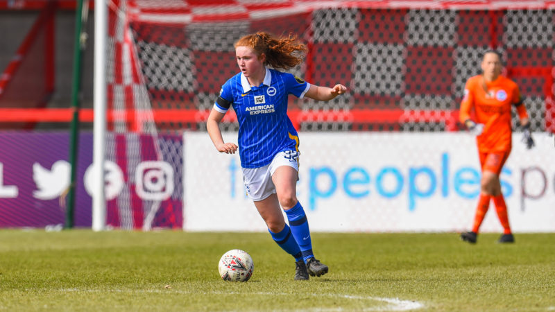 Footballer Libby Bance in action