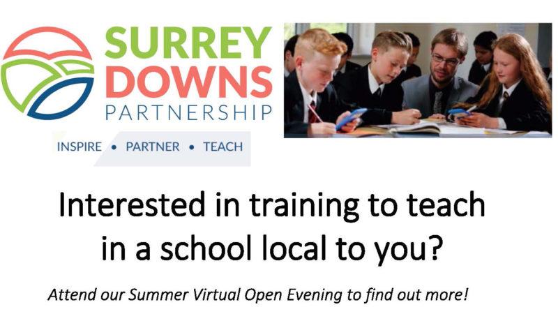 Train to Teach Summer Open Evening flyer