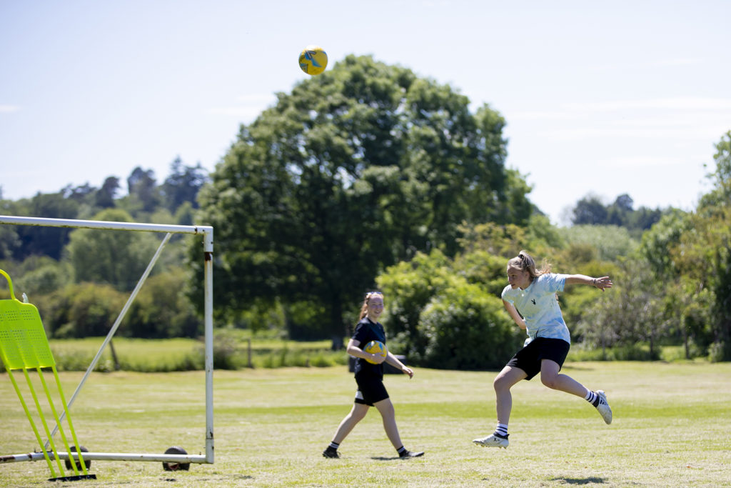 Summer women's football training