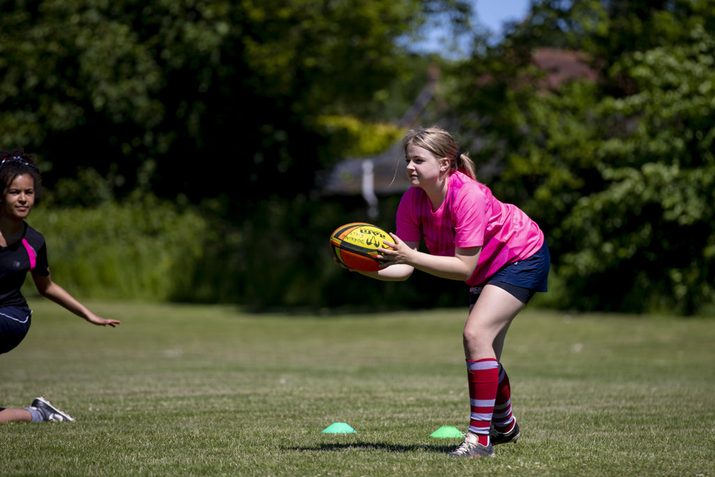 Summer women's rugby training