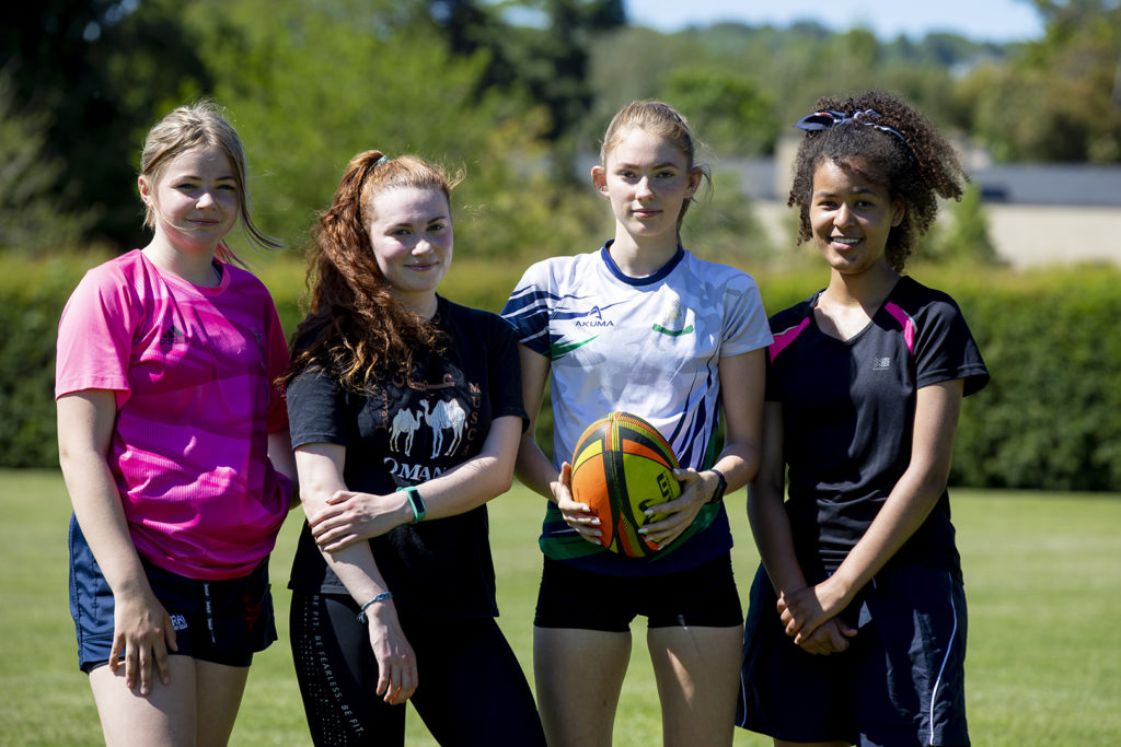 Women's rugby players