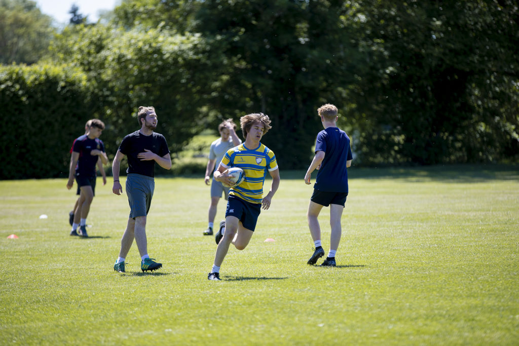 Summer men's rugby training