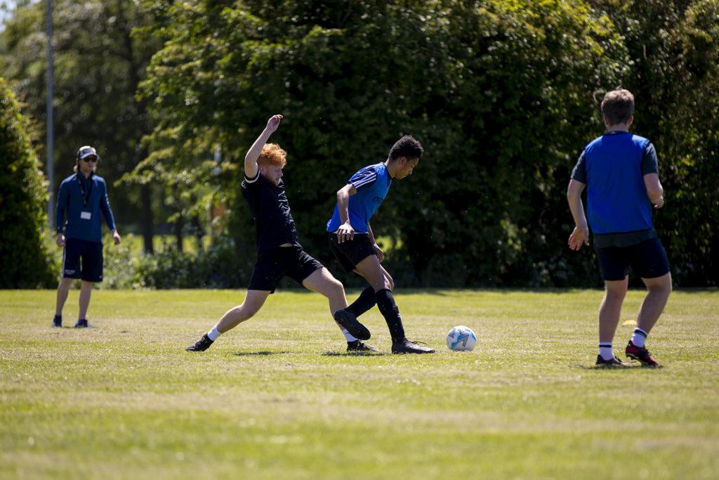 Summer men's football training