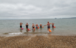 Channel swim training in the sea