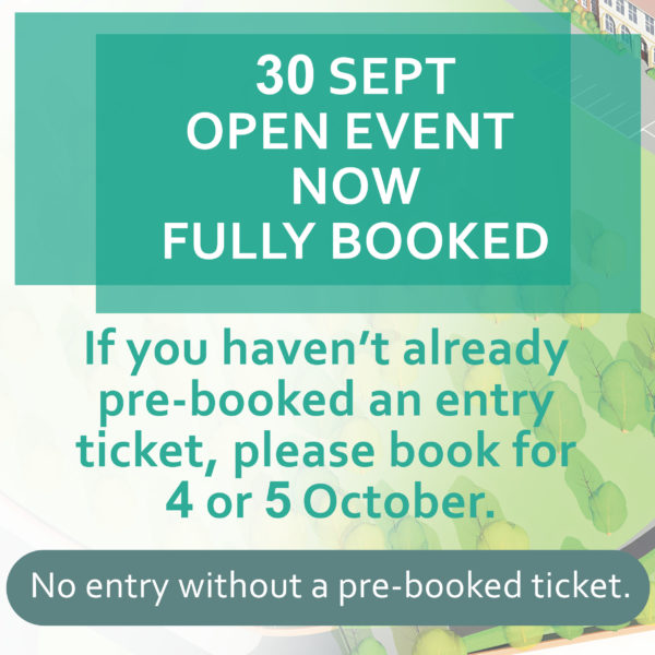 Open event now fully booked